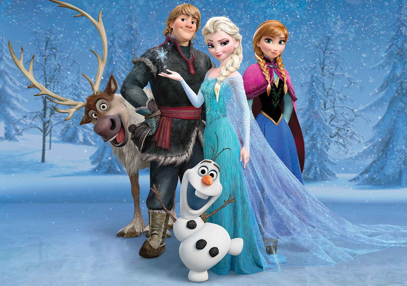 Disney frozen elsa anna olaf sven wall paper mural buy - Frozen anna and olaf ...