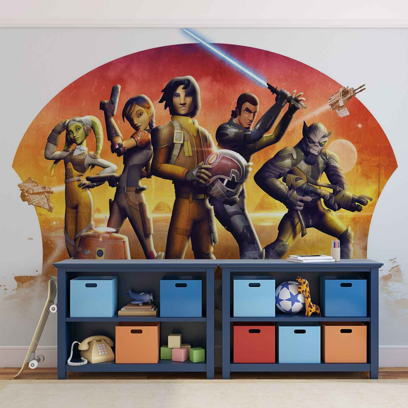 Star wars rebels wall paper mural buy at europosters for Mural star wars