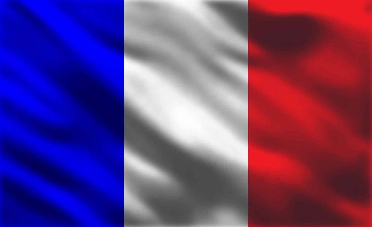 French Flag France Wall Paper Mural