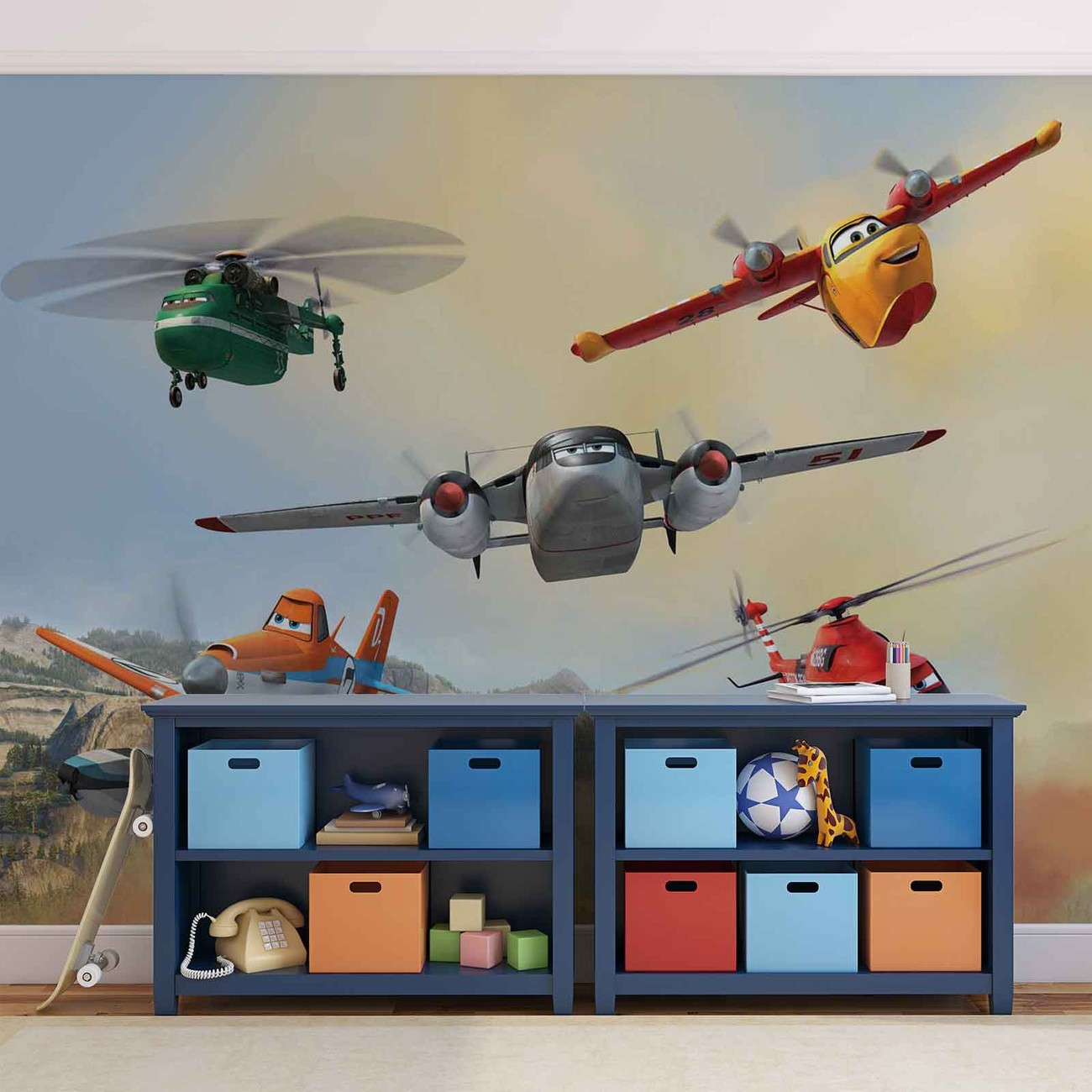 Disney planes dusty blade dipper cabbie wall paper mural for Disney planes wall mural