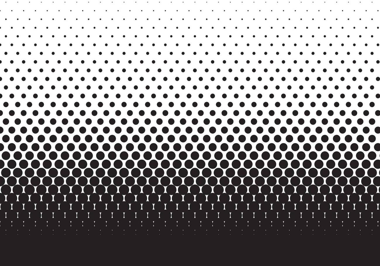 Abstract Black Black Dots Wall Paper Mural