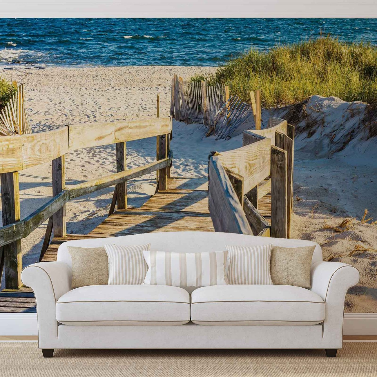 Beach tropical view wall paper mural buy at europosters for Alabama wall mural