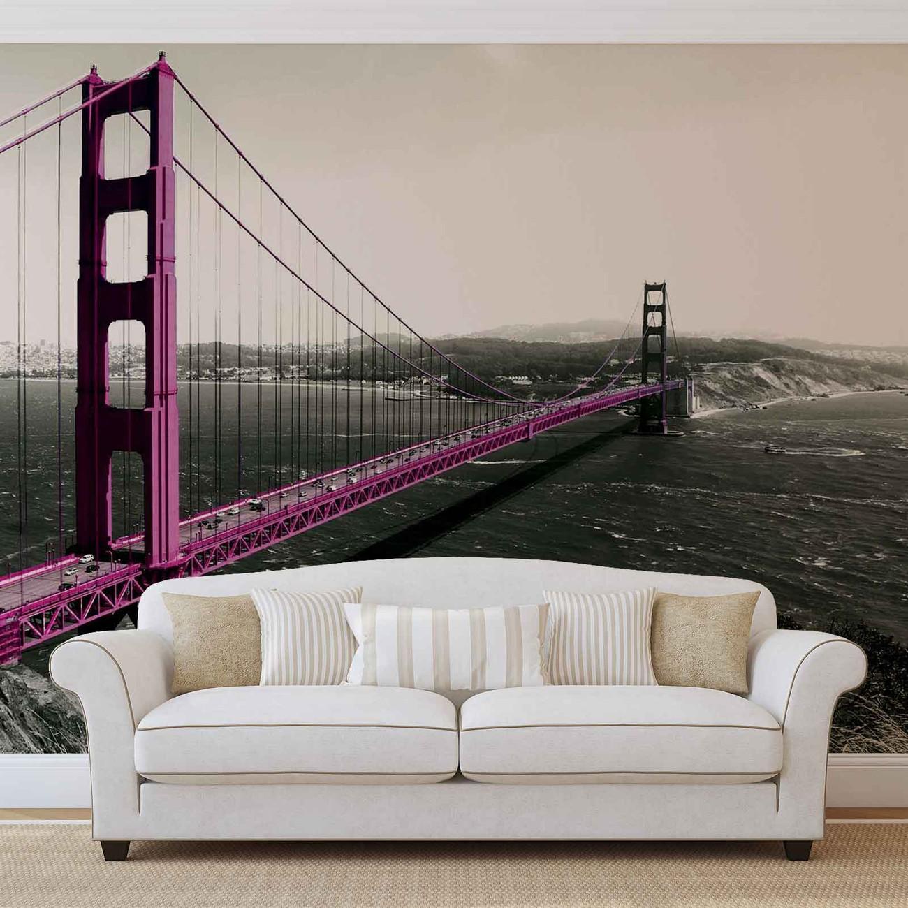 Golden gate bridge wall paper mural buy at europosters for Bridge wall mural