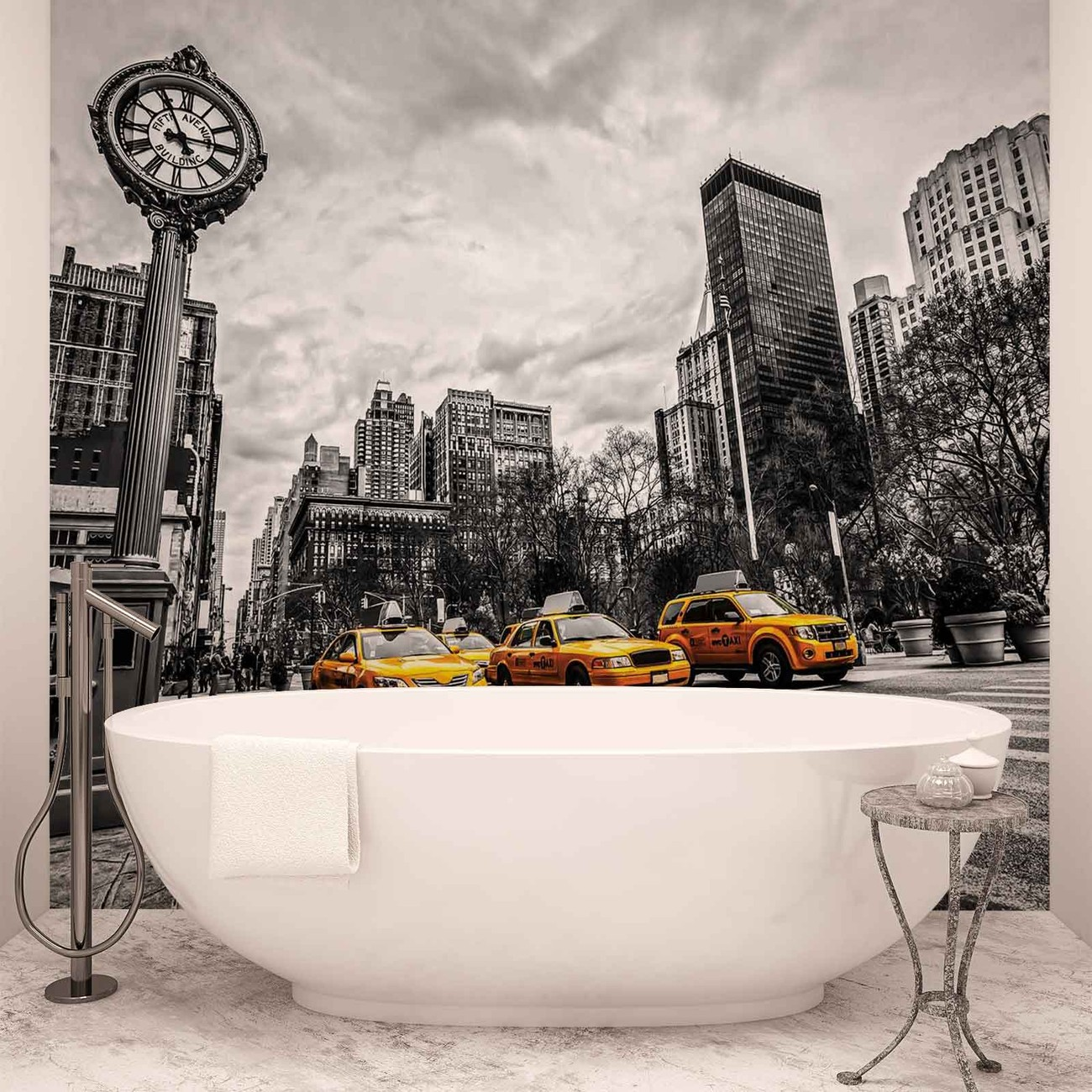 New york city cabs wall paper mural buy at for Acheter poster mural new york