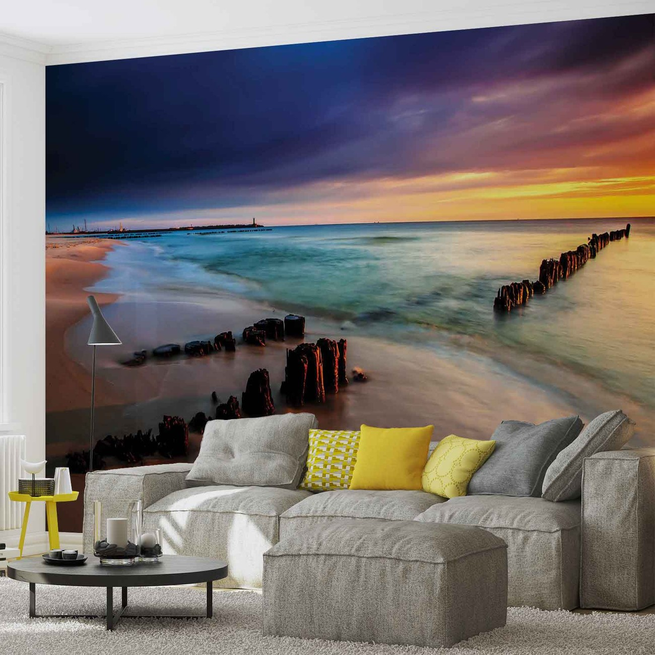 Beach scene wall paper mural buy at europosters for Wall scenes
