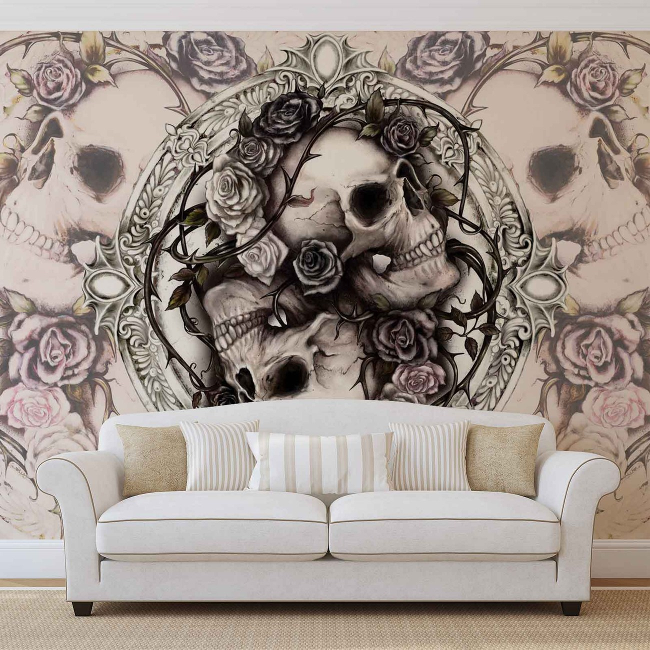 castle rose wall mural - photo #14