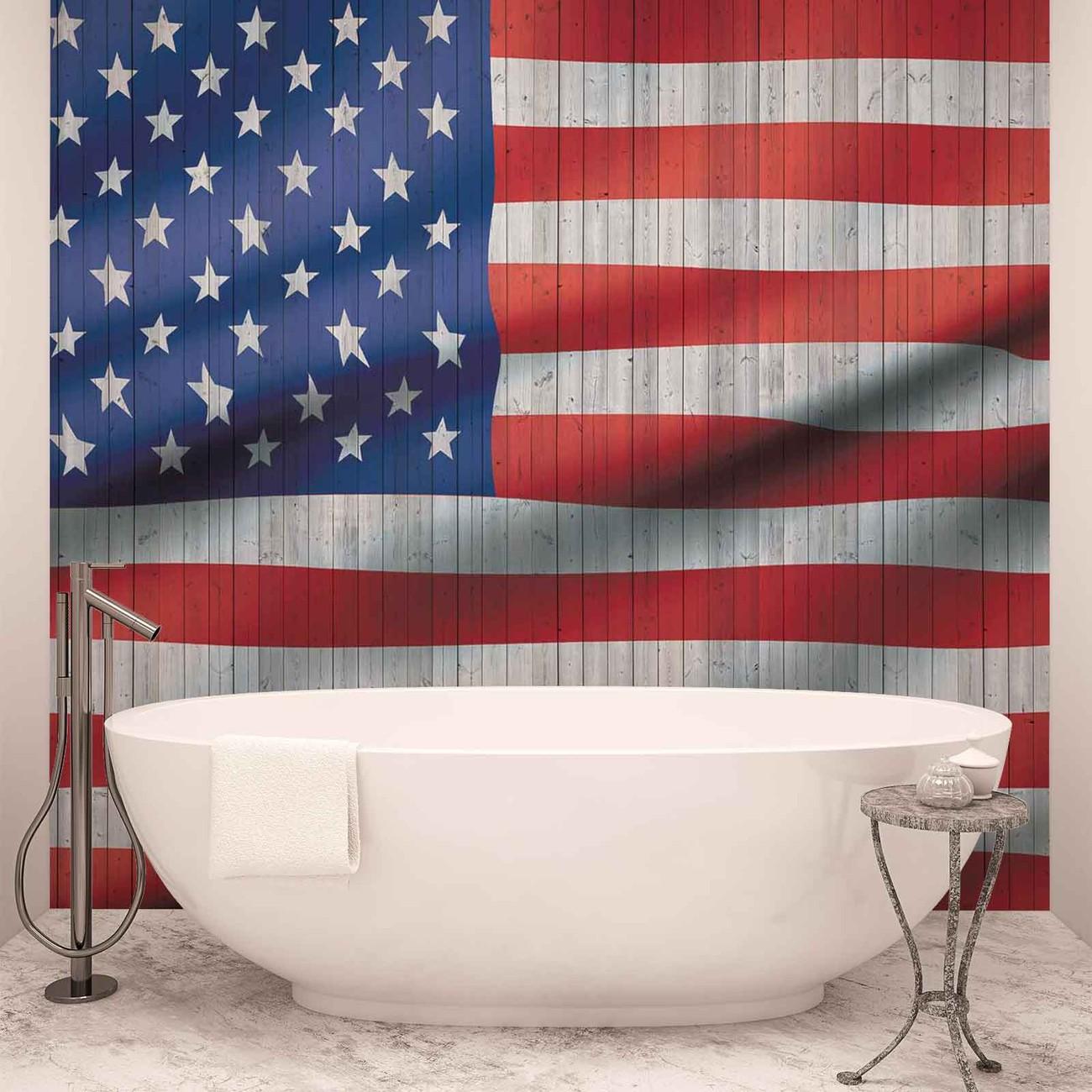 Usa american flag wall paper mural buy at europosters for American flag wall mural