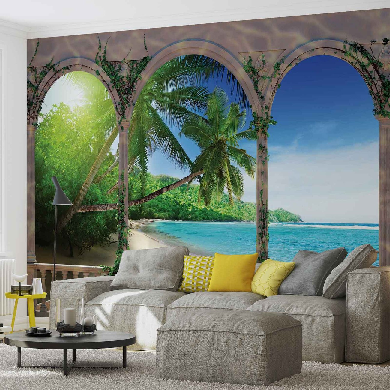 Beach tropical wall paper mural buy at europosters for Beach mural for wall