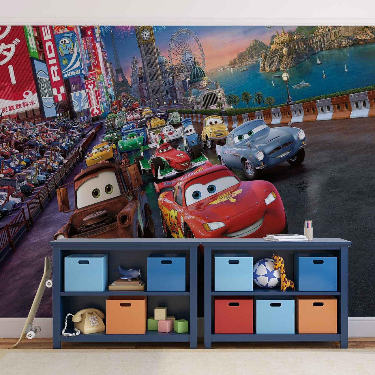 Disney cars lightning mcqueen mater wall paper mural buy at price from amipublicfo Image collections