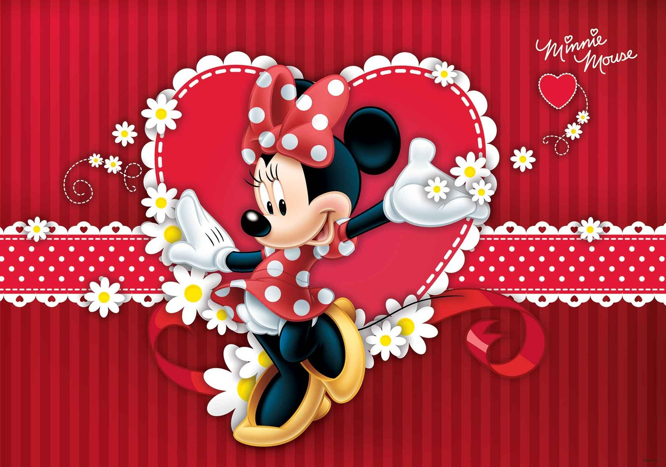 Wall Stickers Murals Disney Minnie Mouse Wall Paper Mural Buy At Europosters