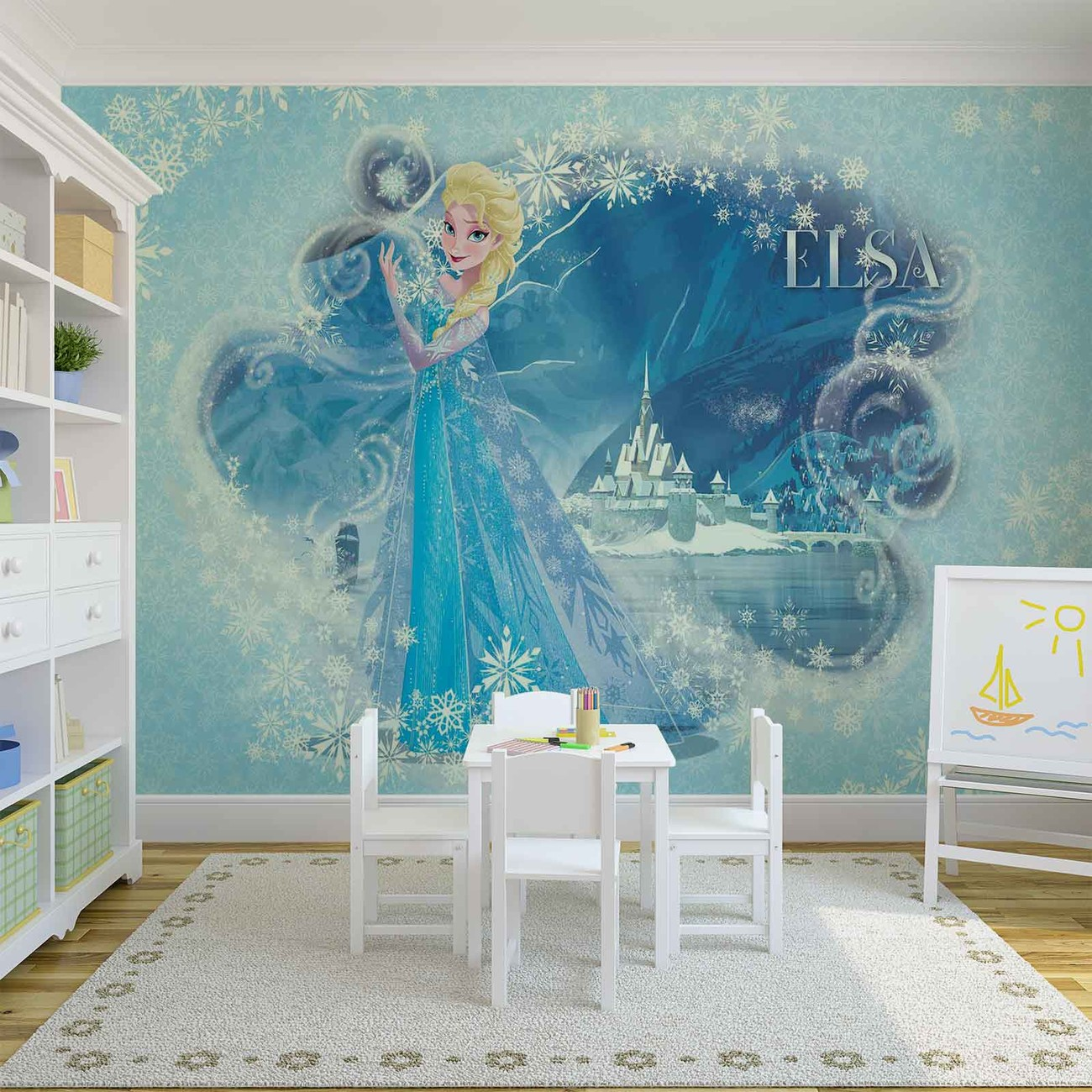 Disney frozen elsa wall paper mural buy at europosters for Disney wall mural uk
