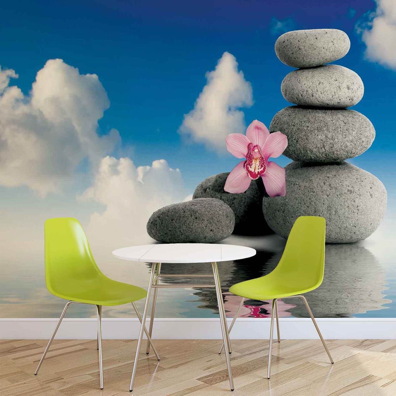 Zen spa serenity wall paper mural buy at europosters for Poster mural geant zen