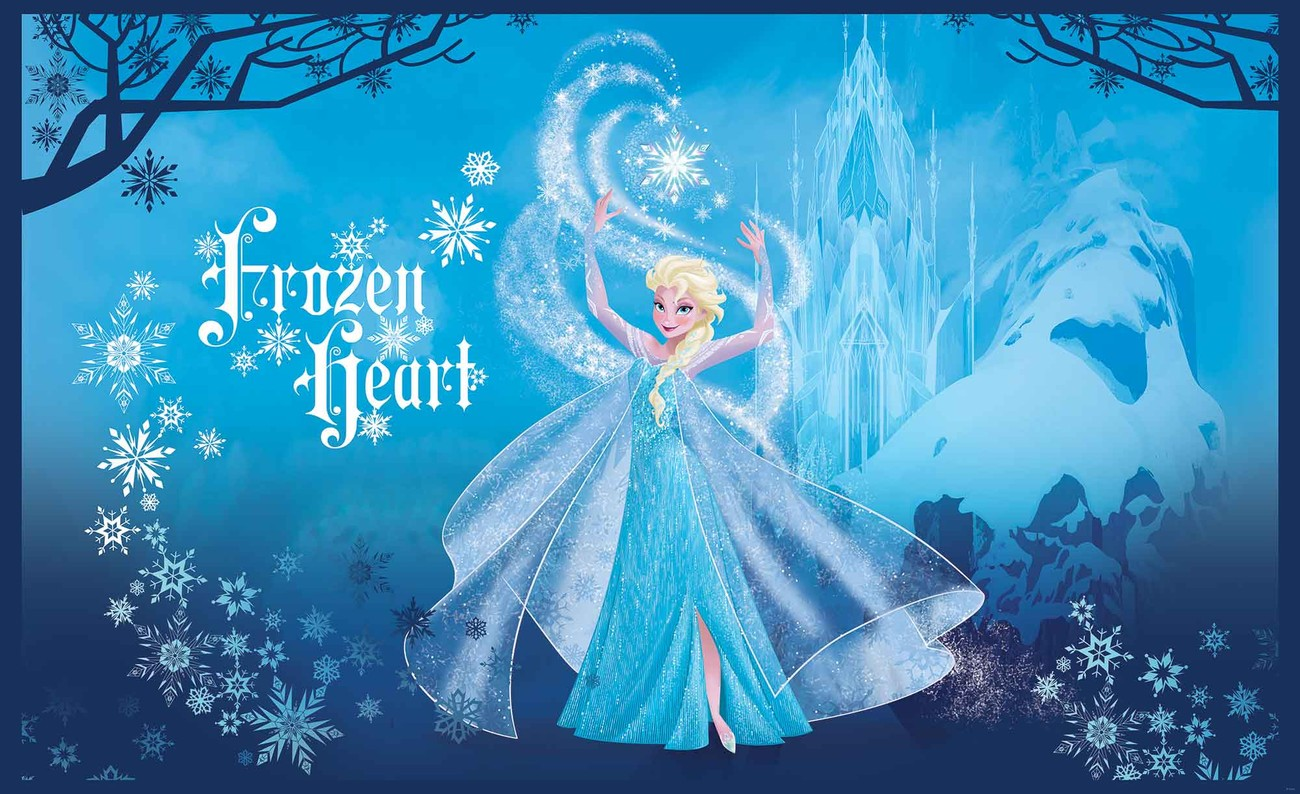 Disney frozen elsa wall paper mural buy at europosters for Disney mural wallpaper