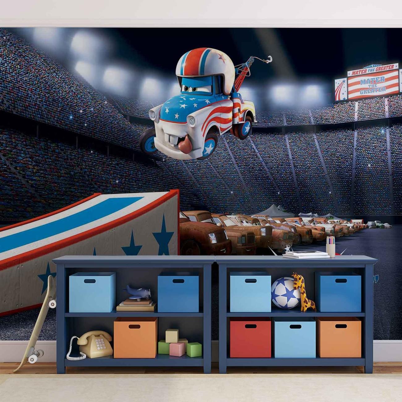 Disney cars wall paper mural buy at europosters for Disney cars mural