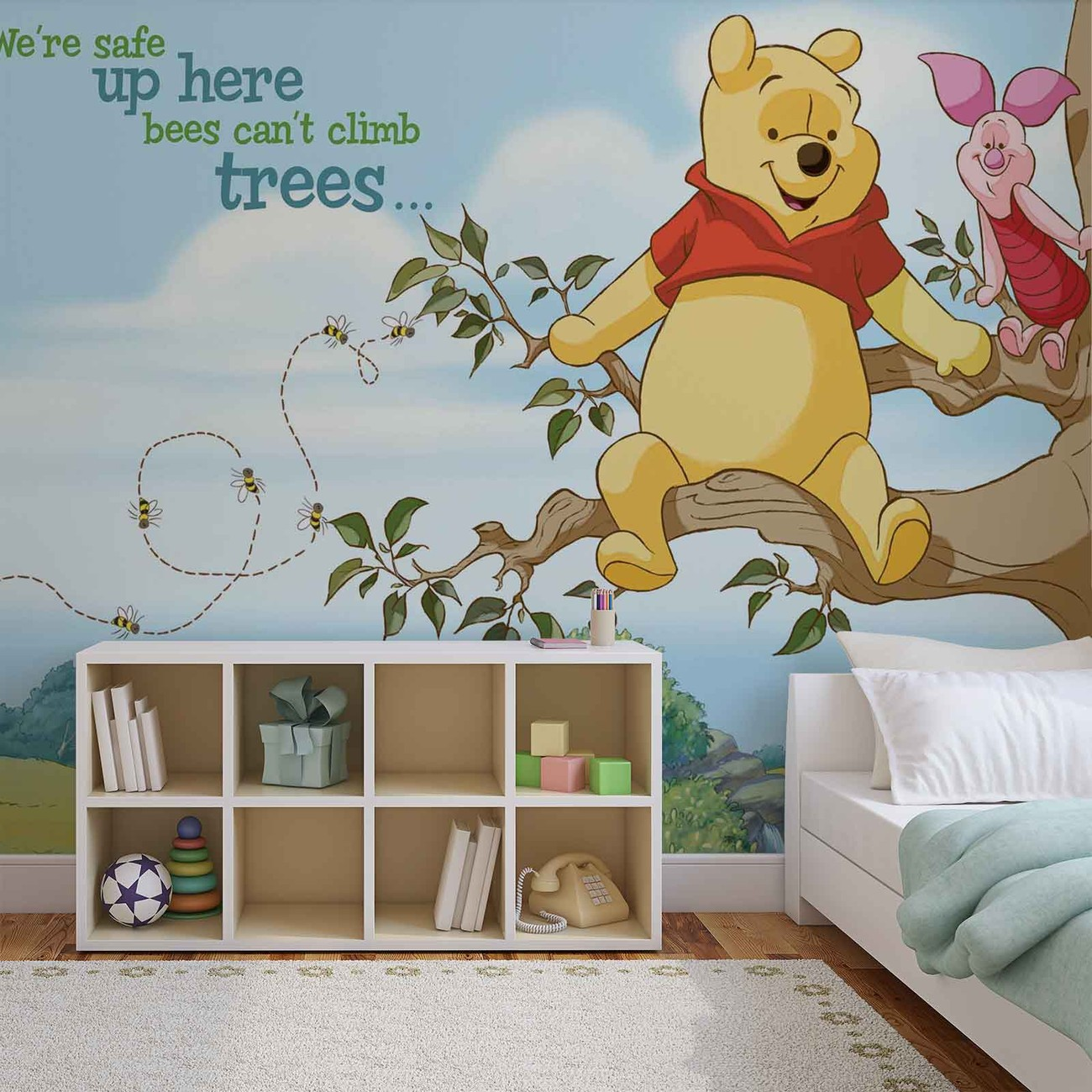Disney Winnie Pooh Piglet Wallpaper Mural. Facebook Google Pinterest.  Original Price: Part 48