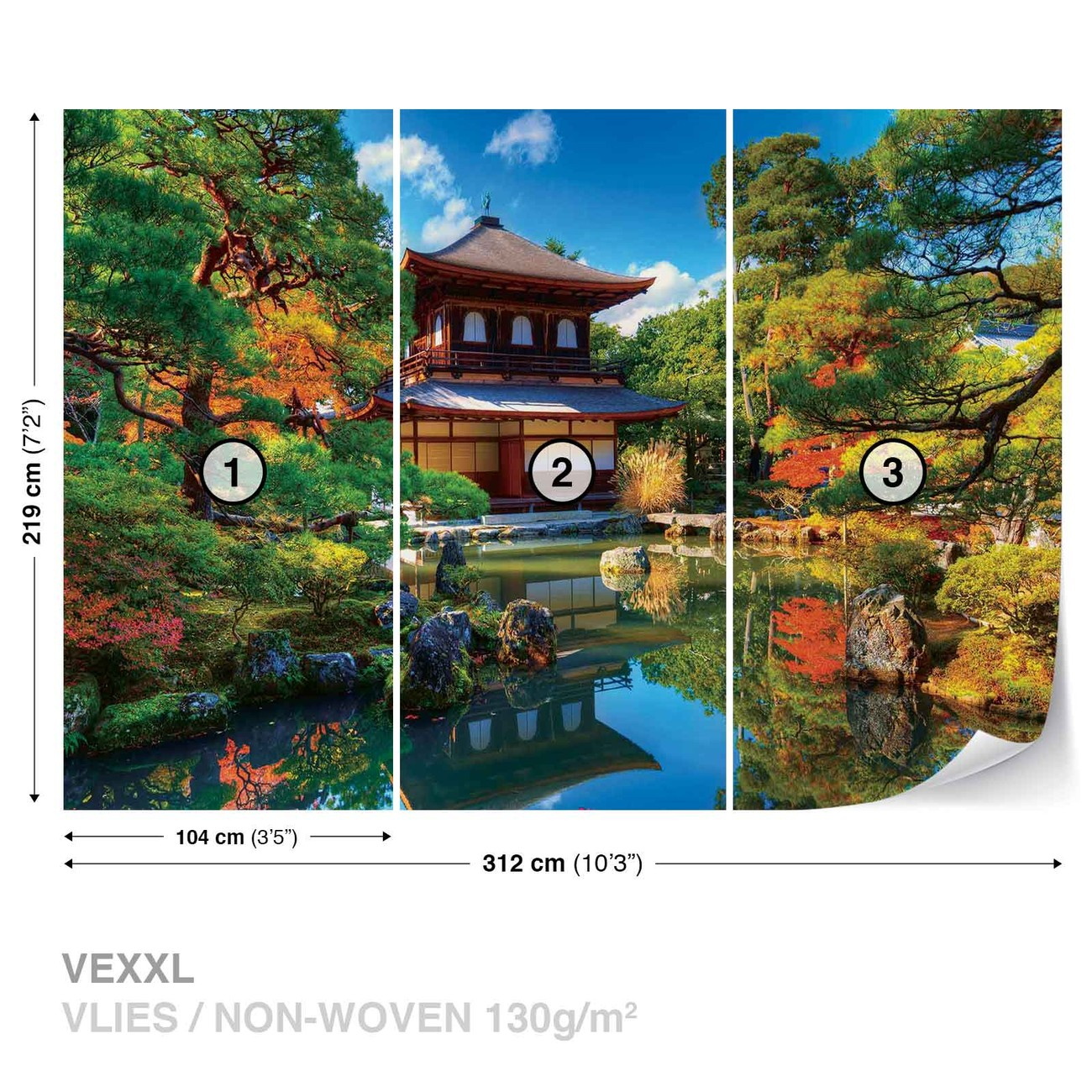 Temple zen japan culture wall paper mural buy at europosters for Poster xxl mural zen