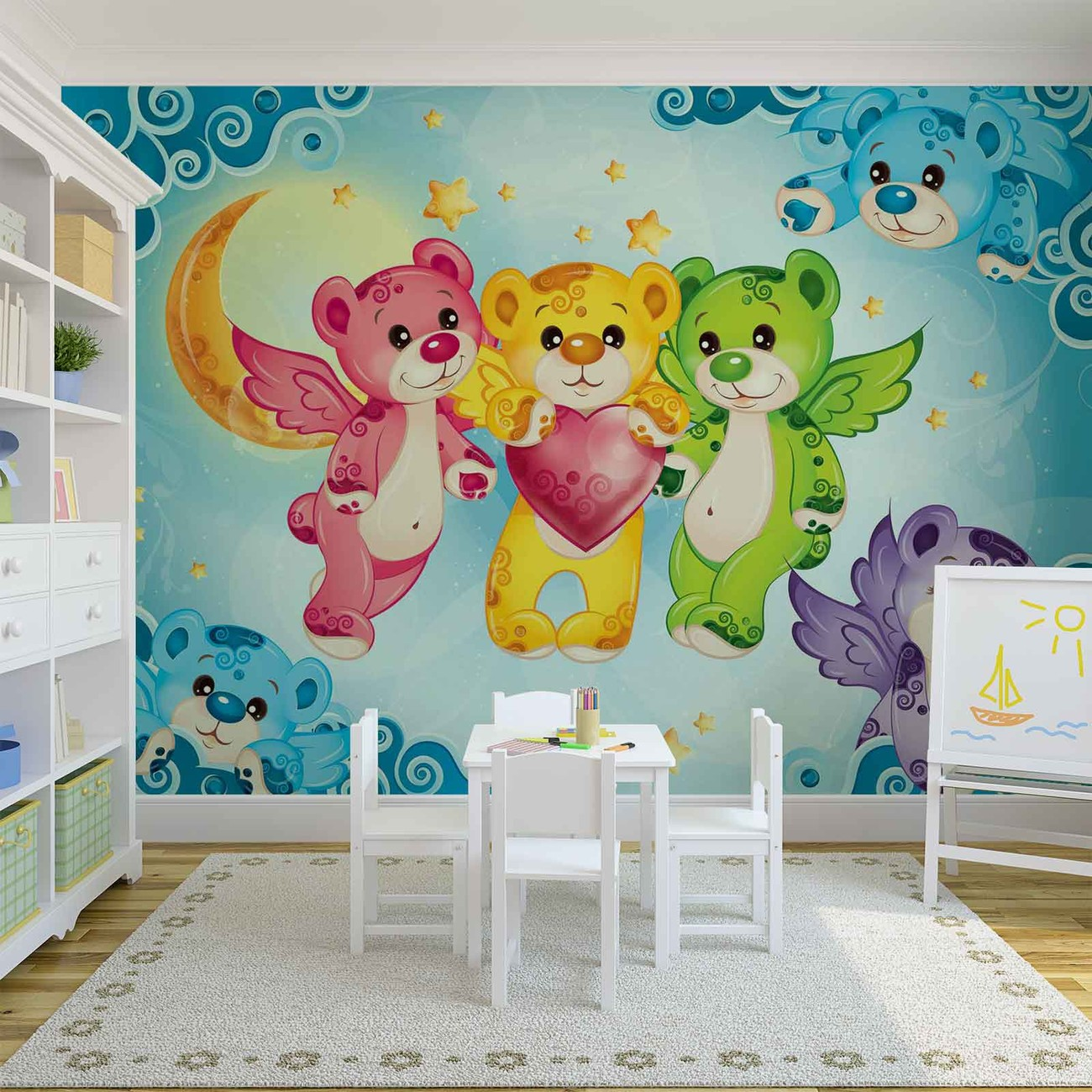 care bears heart wall paper mural buy at europosters