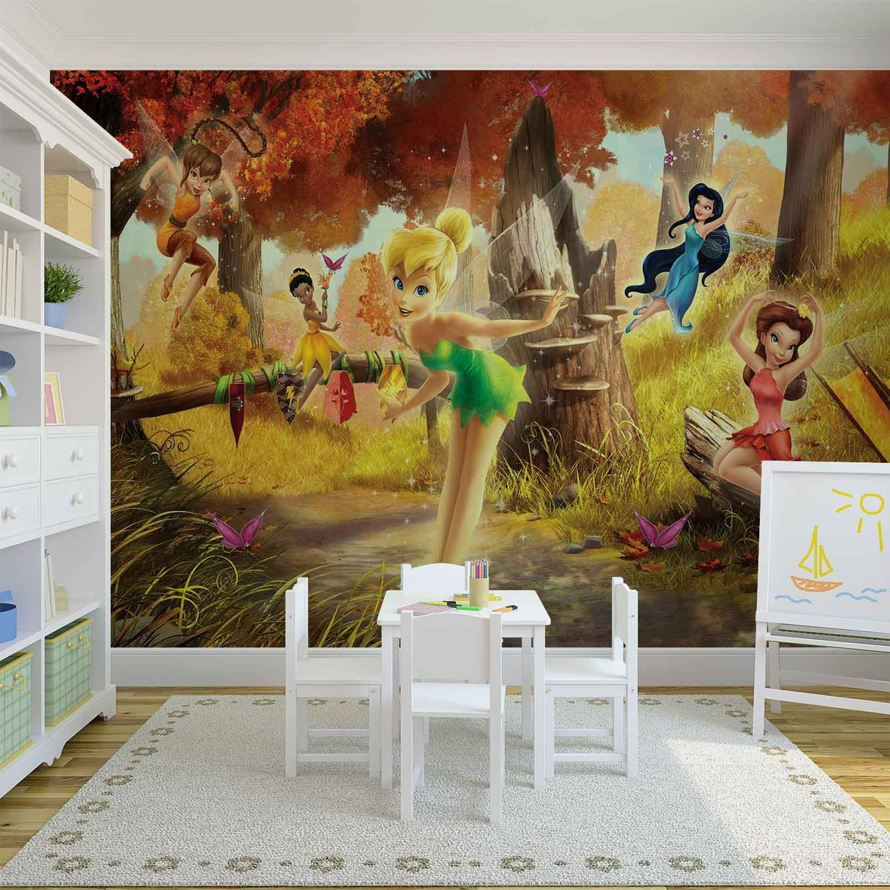 disney fairies tinker bell rosetta klara wall paper mural buy at price from