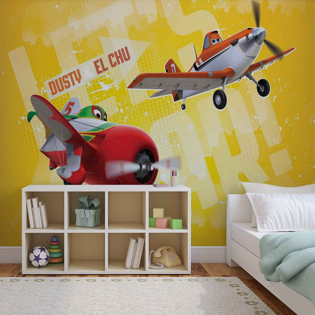Disney planes wall paper mural buy at europosters for Disney planes wall mural