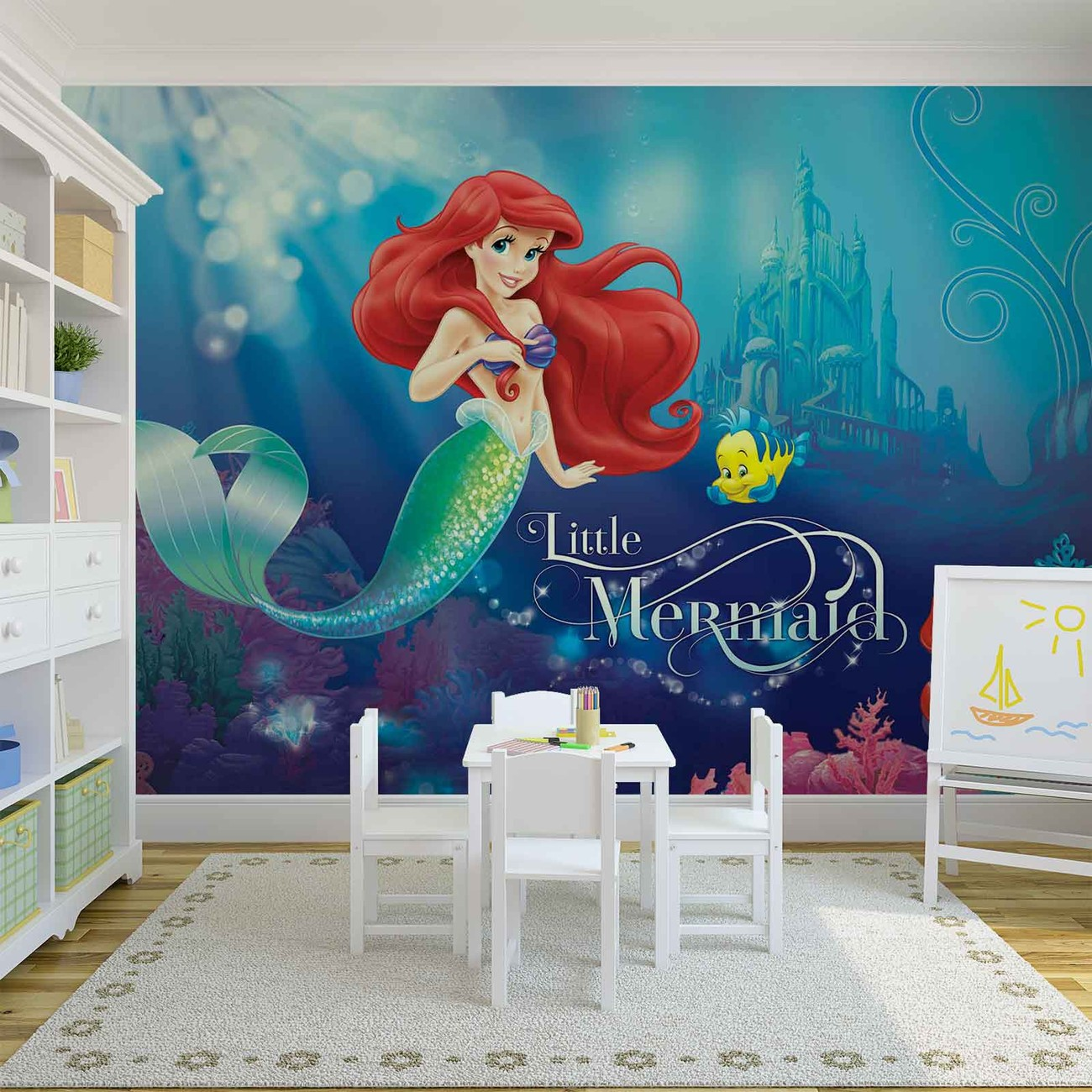 Disney princesses ariel wall paper mural buy at europosters for Disney princess mural asda