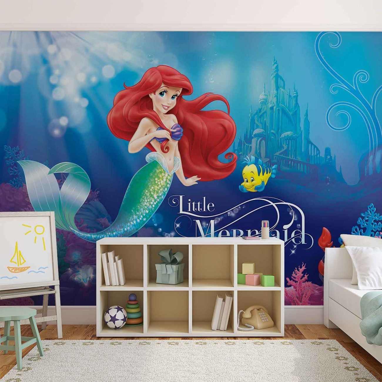 Disney princesses ariel wall paper mural buy at europosters for Disney princess wall mural