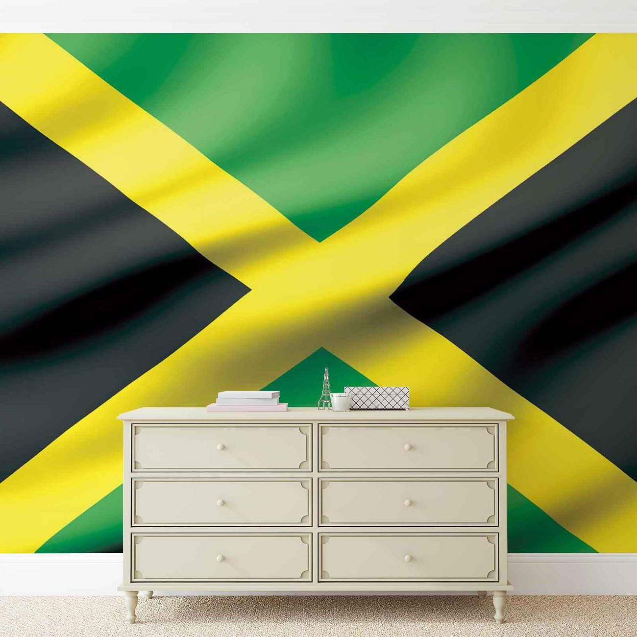Drapeau jama que poster mural papier peint acheter le for Acheter maison jamaique
