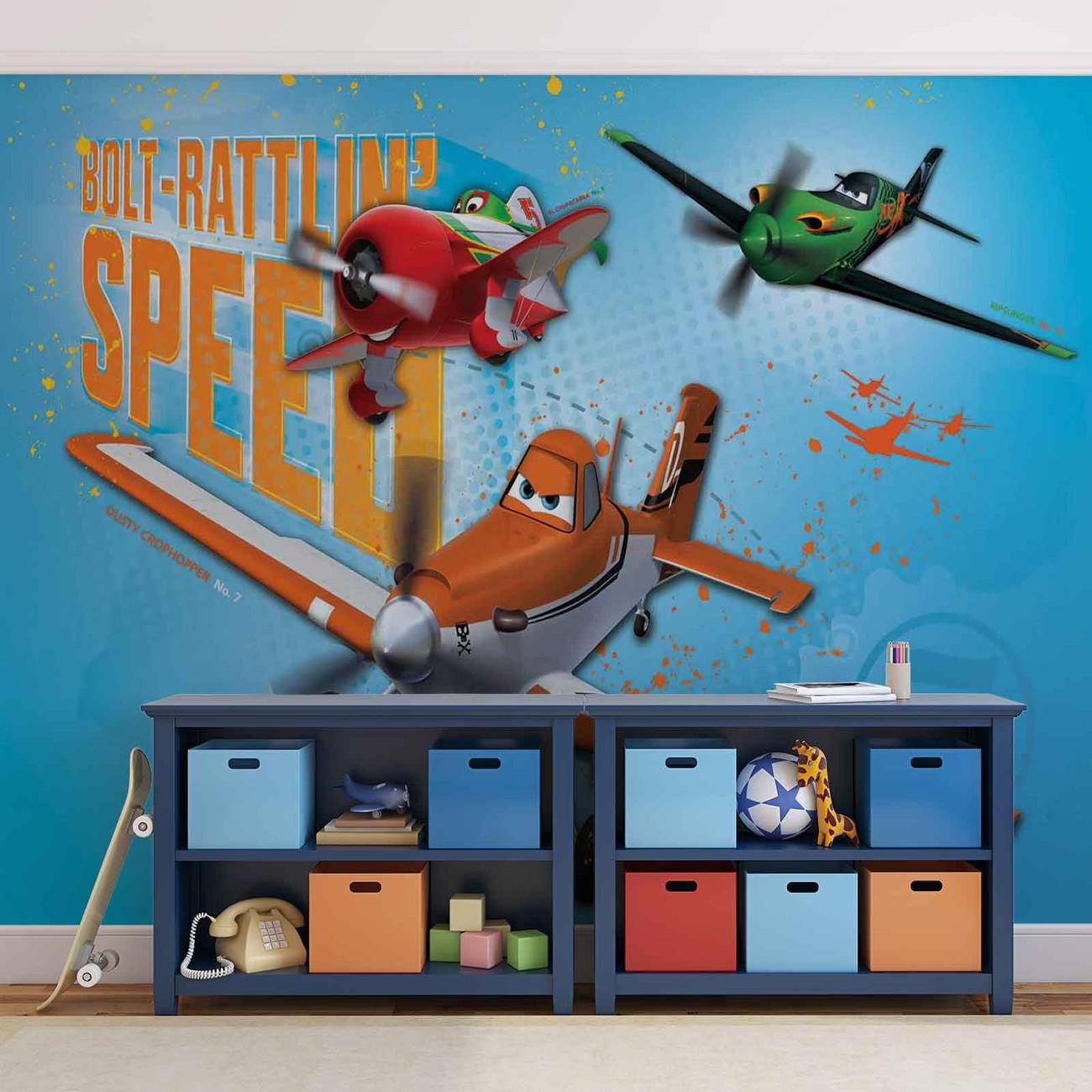 Disney planes wall paper mural buy at europosters for Disney planes wall mural