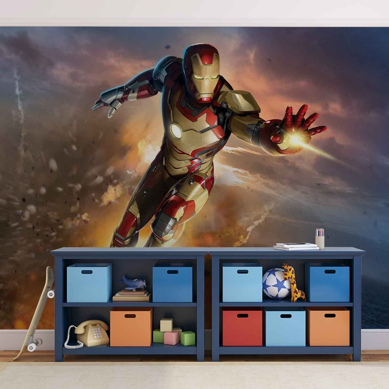 Iron man marvel avengers wall paper mural buy at europosters for Avengers mural poster