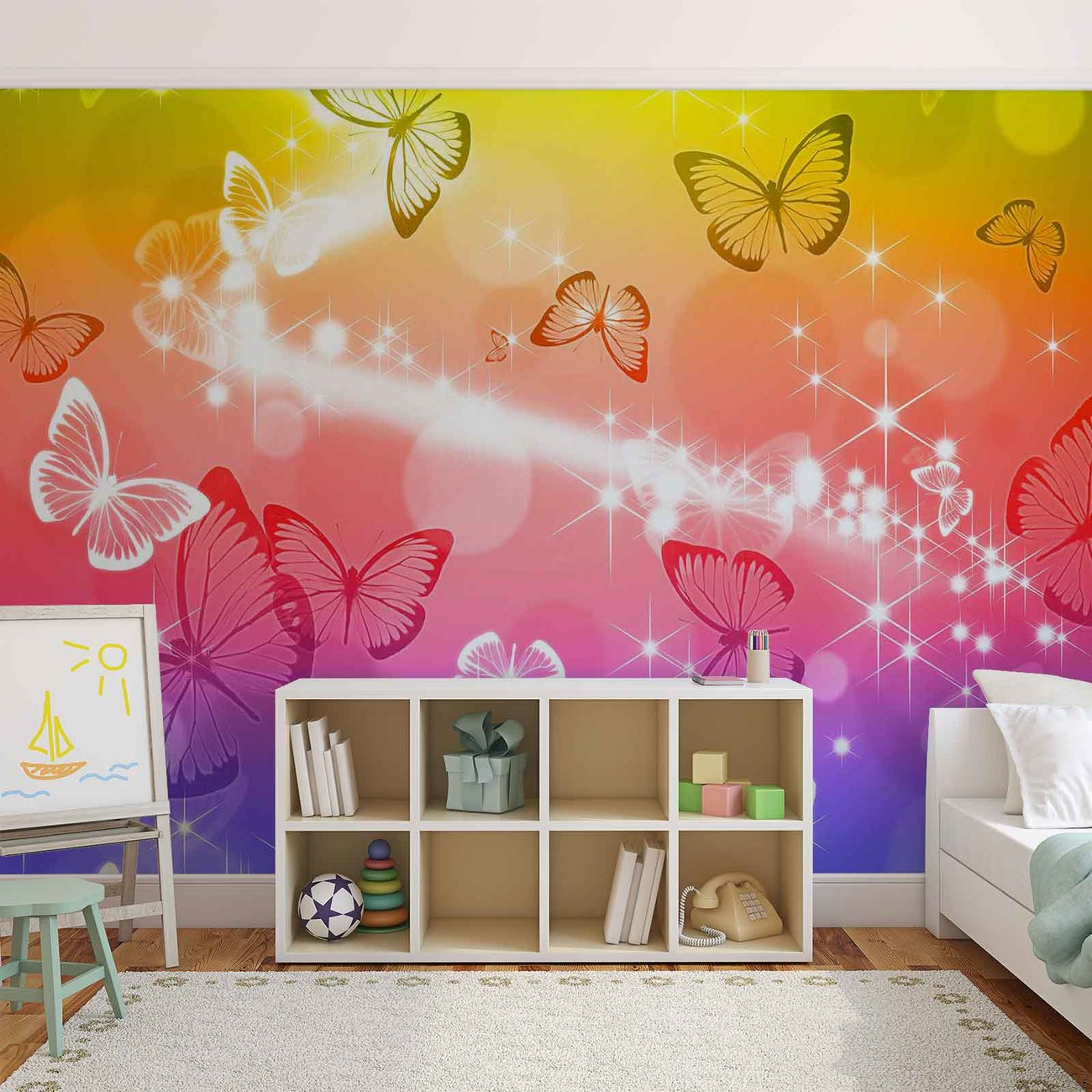 Butterflies wall paper mural buy at europosters for Butterfly wall mural