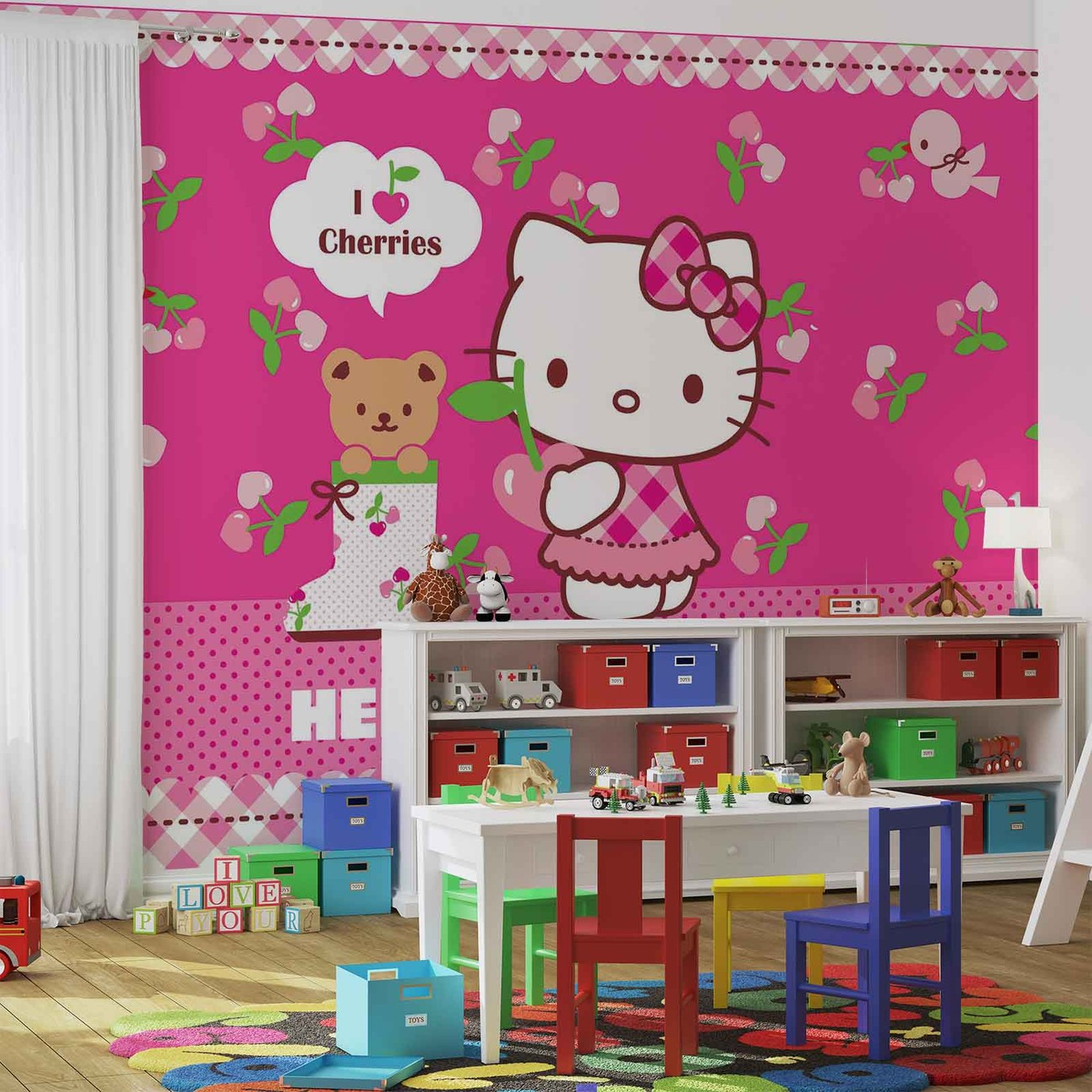 hello kitty wall mural for your home buy at europosters hello kitty wall paper mural buy at europosters