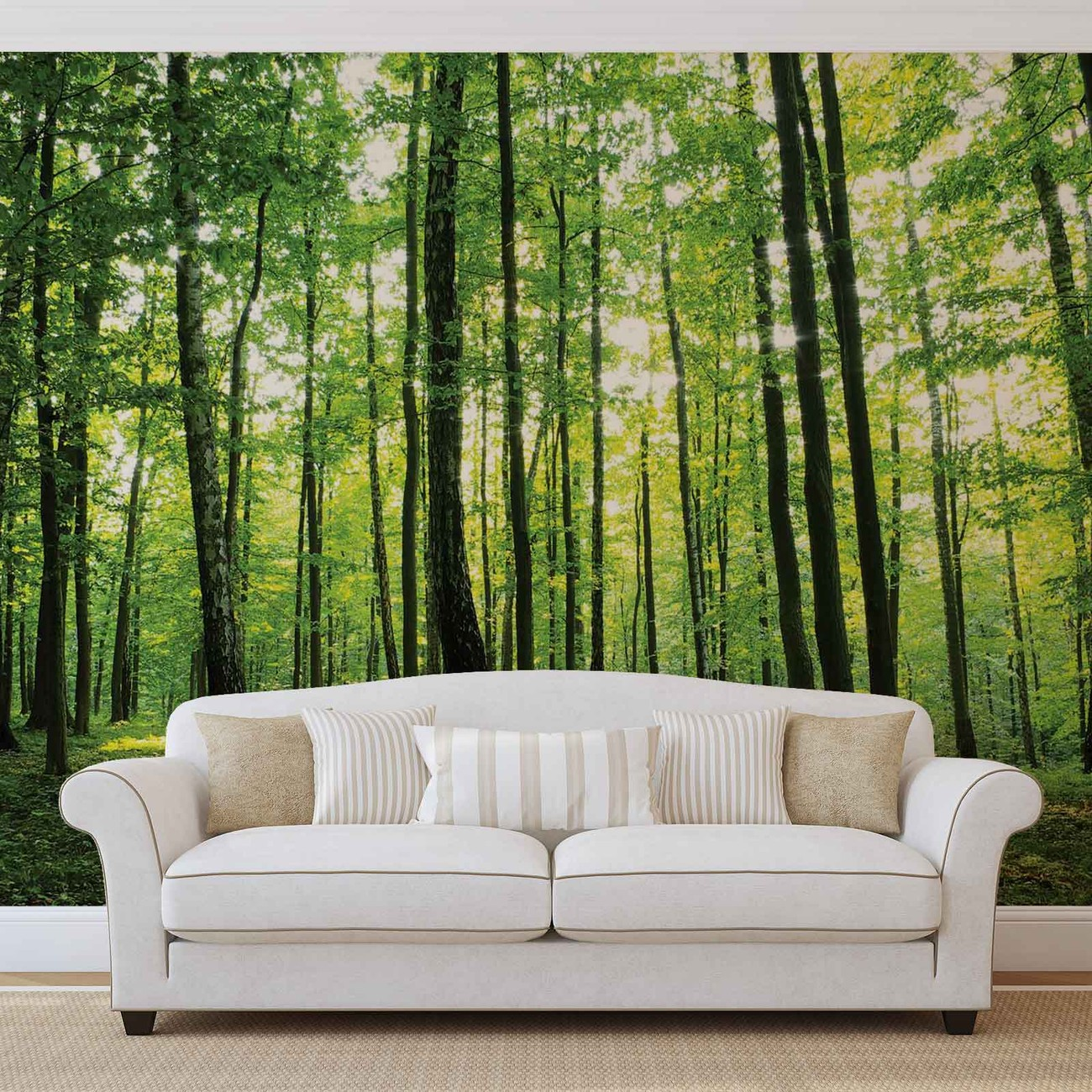 Forest trees green nature wall paper mural buy at europosters forest trees green nature wallpaper mural facebook google pinterest price from amipublicfo Choice Image