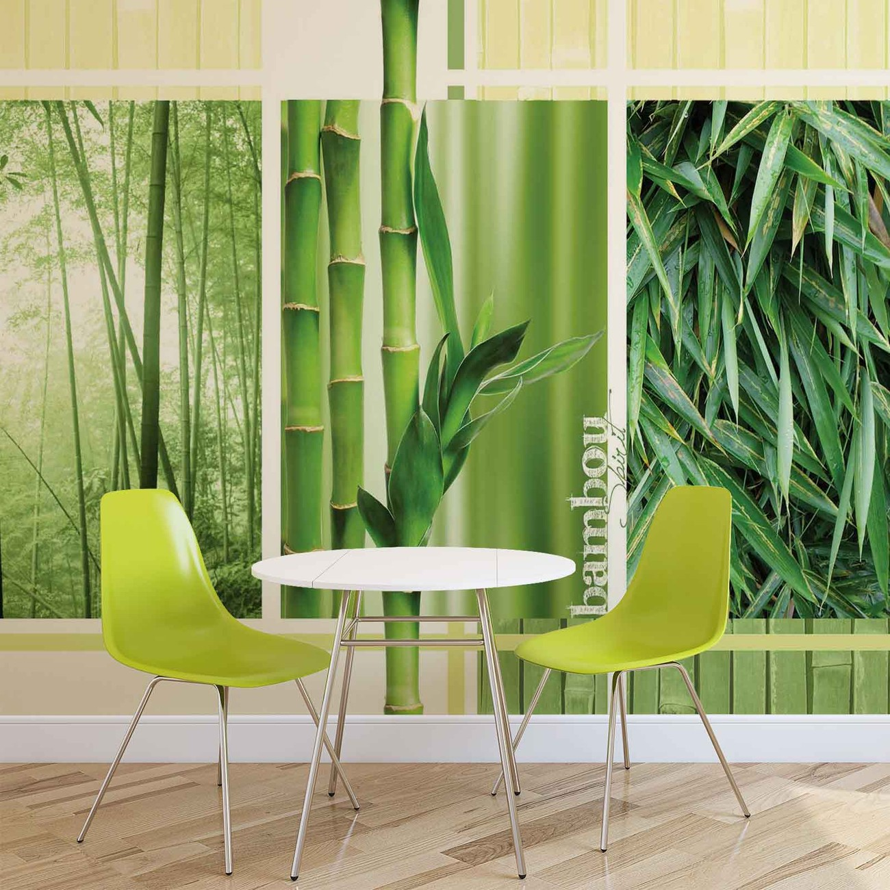 Bamboo forest nature wall paper mural buy at for Bamboo forest mural
