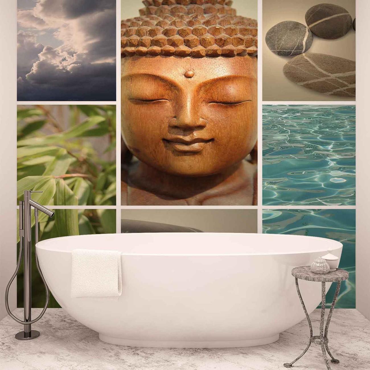 Zen calming scene wall paper mural buy at europosters for Poster xxl mural zen