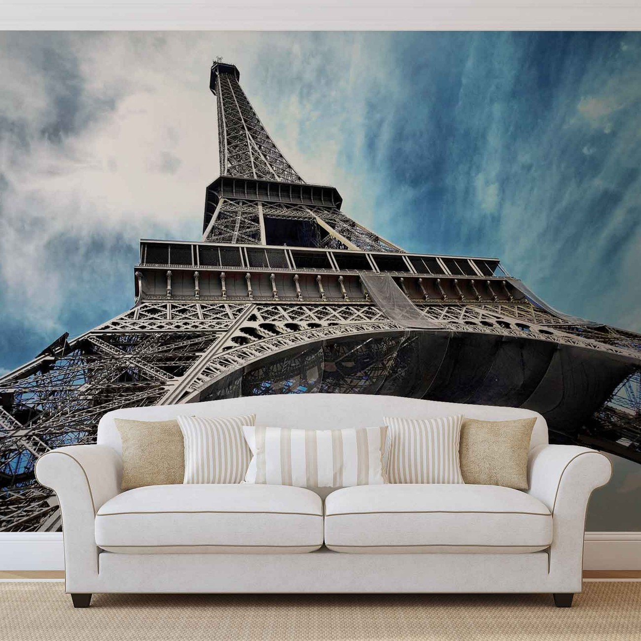 Eiffel tower paris wall paper mural buy at for Eiffel tower mural