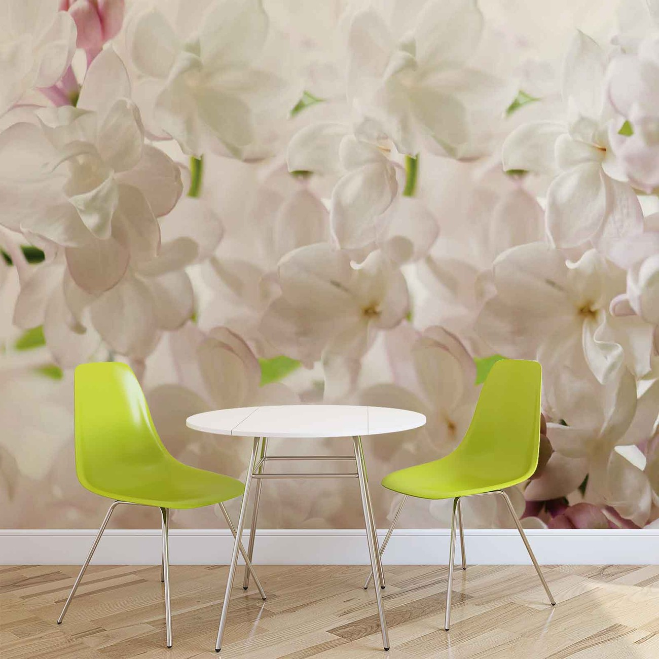 Flowers spring blossom wall paper mural buy at europosters for Mural of flowers