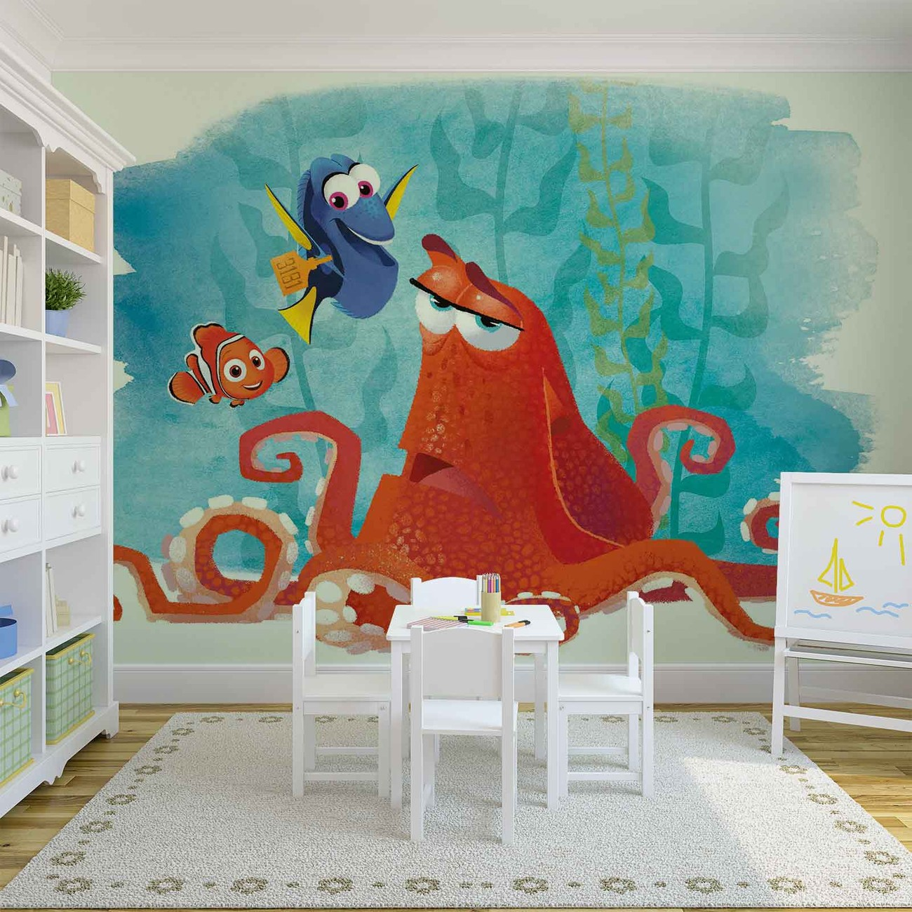 Disney finding nemo dory wall paper mural buy at europosters for Disney wall mural uk