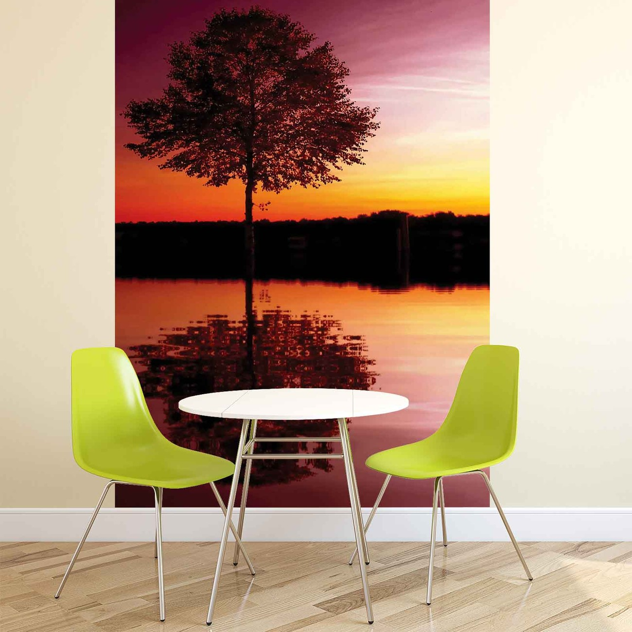 Tree Lake Reflection Sunset Nature Wall Mural  Buy at EuroPosters