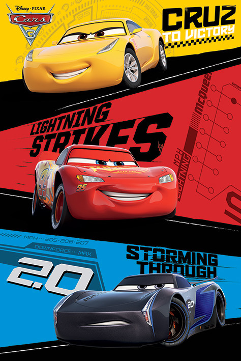 Cars 3 trio poster sold at europosters - Posters gigantes para pared ...