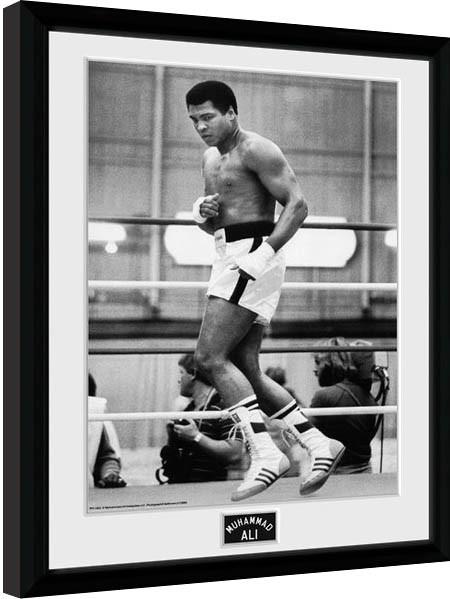 muhammad ali training 30x40cm collector print framed poster - Muhammad Ali Framed Pictures