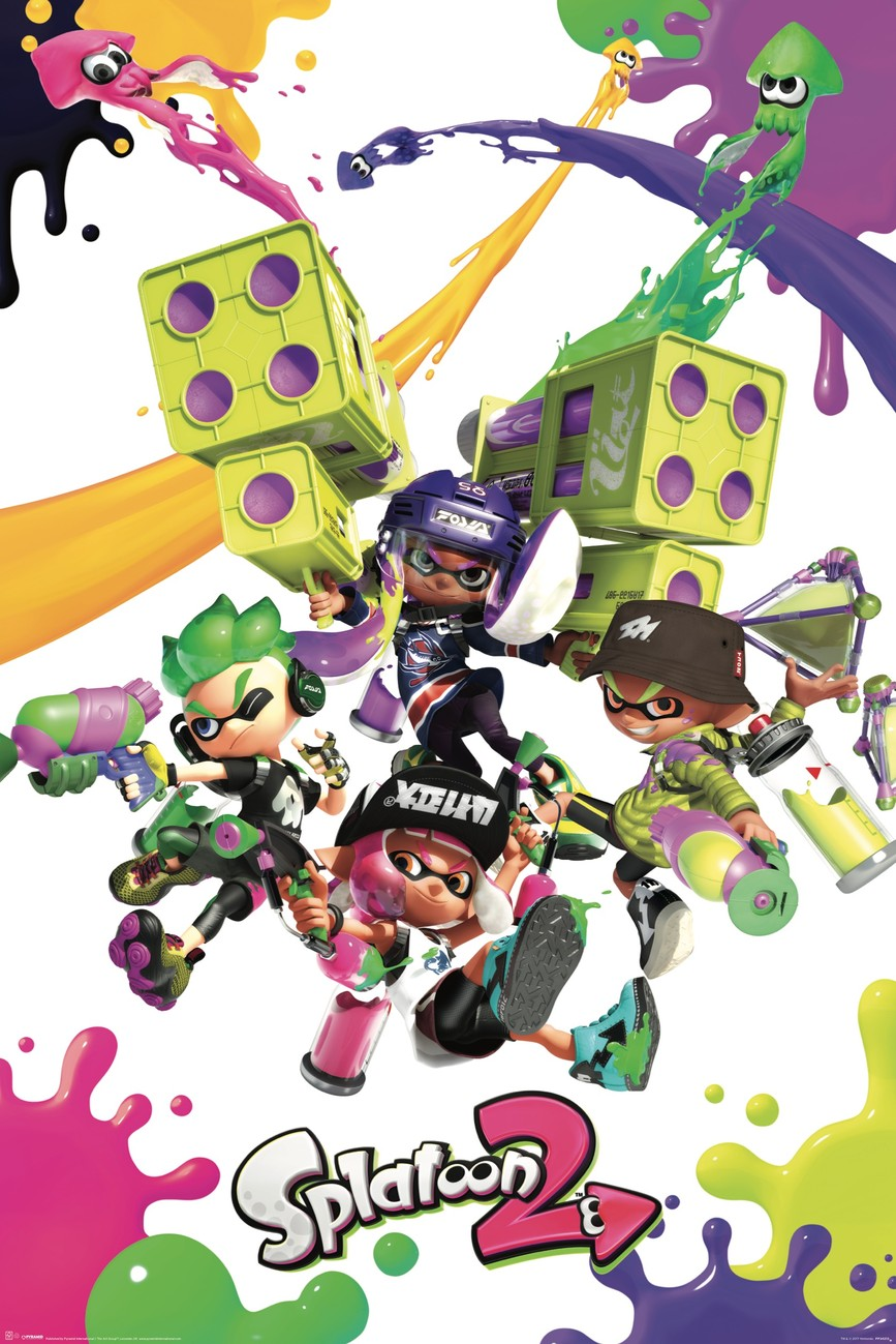 Splatoon 2 Colour Splats Poster Sold At Europosters