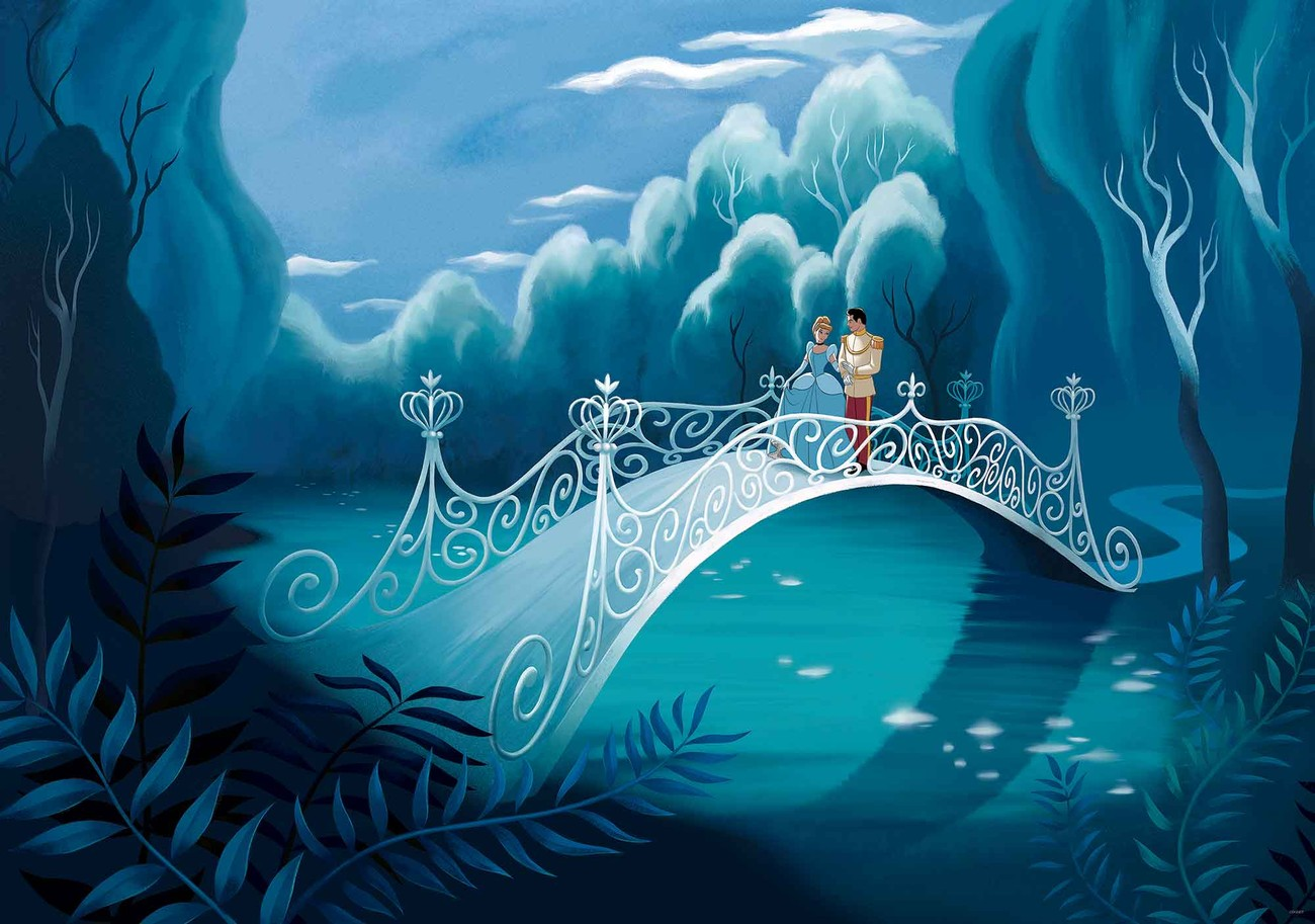 Princesses cinderella wall paper mural buy at europosters princesses cinderella wallpaper mural altavistaventures Image collections