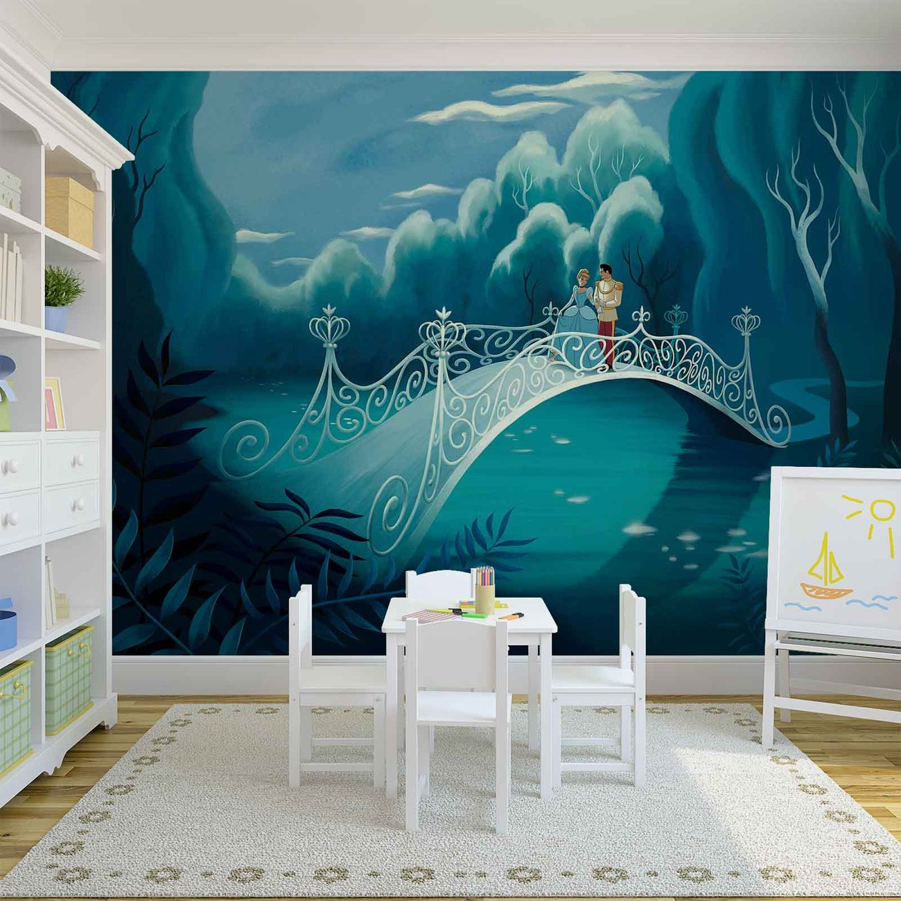 Princesses cinderella wall paper mural buy at europosters for Cinderella wall mural