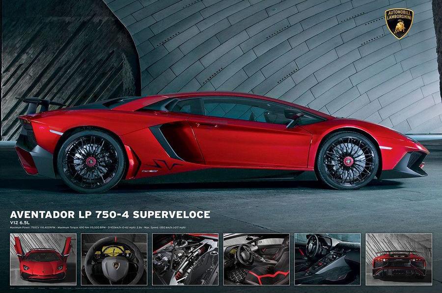 Lamborghini Aventador LP750 4 Poster