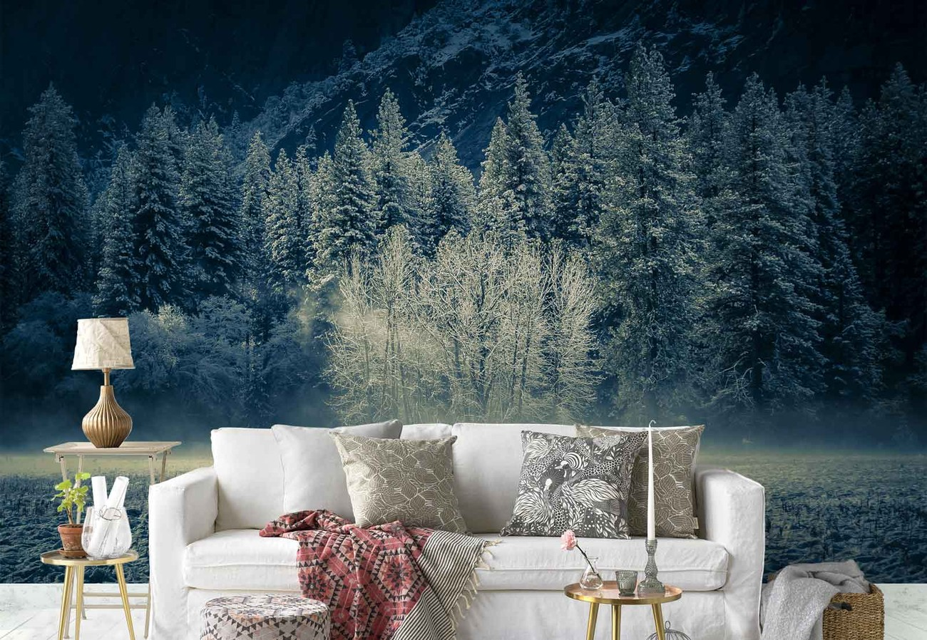 Aspen grouping yosemite valley wall paper mural buy at for Aspen wall mural