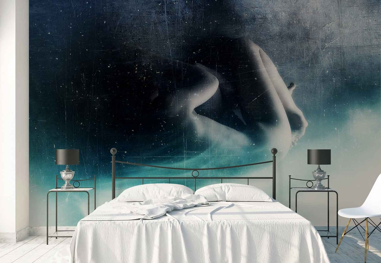 Fallen angel wall paper mural buy at europosters for Angel wall mural