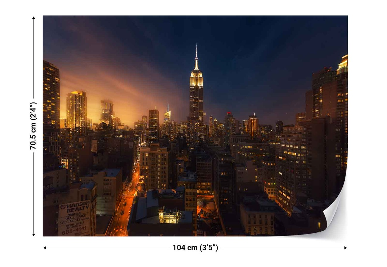 Nyc empire state building wall paper mural buy at for Empire state building mural