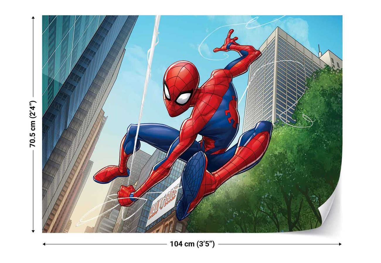 Marvel spiderman 10590 wall paper mural buy at europosters - Poster mural spiderman ...