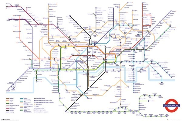 Transport For London Underground Map Poster Sold at Europosters