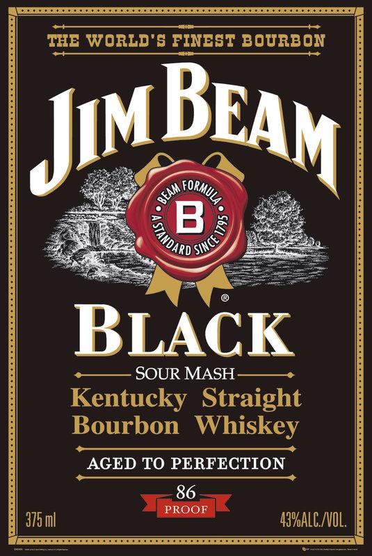 Jim Beam - black label Poster | Sold at Abposters.com
