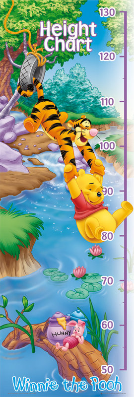 winnie the pooh heigh chart poster sold at. Black Bedroom Furniture Sets. Home Design Ideas